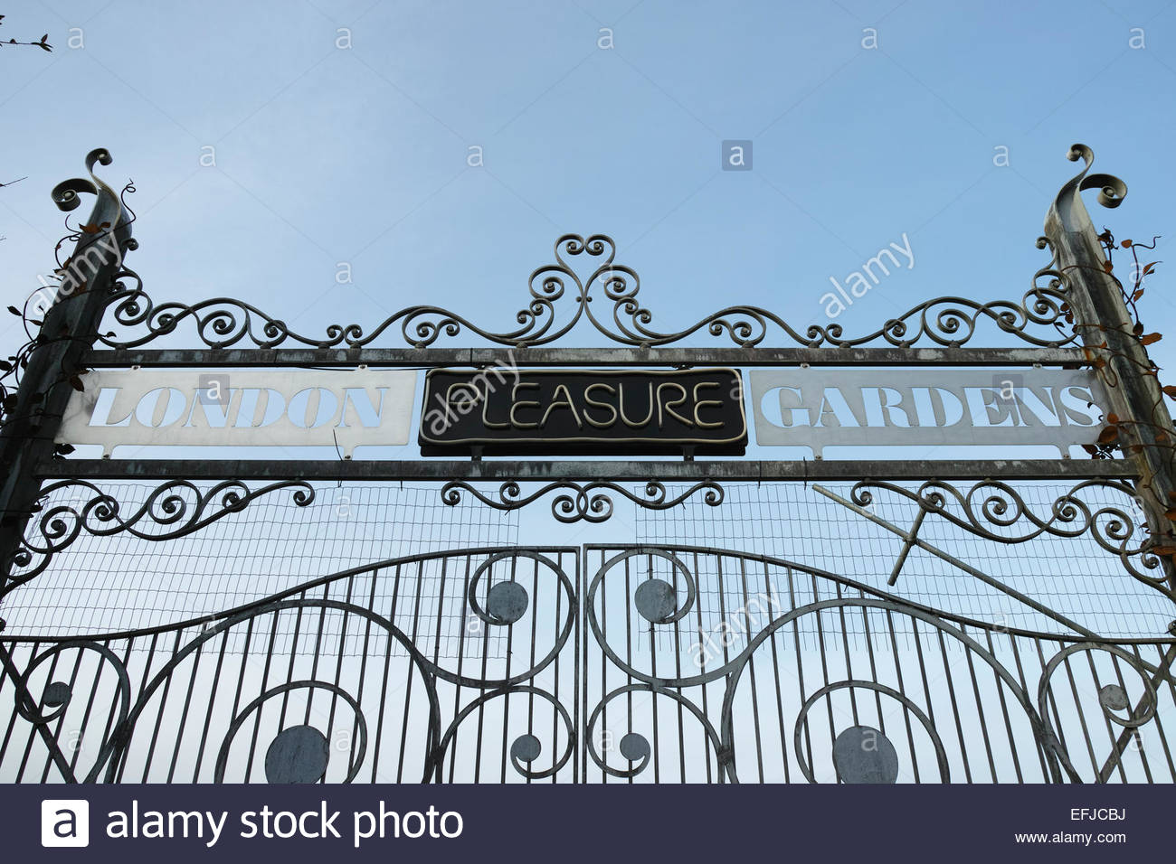 Entrance Gate To The London Pleasure Gardens In Silvertown Which Closed For  Business Shortly After Opening