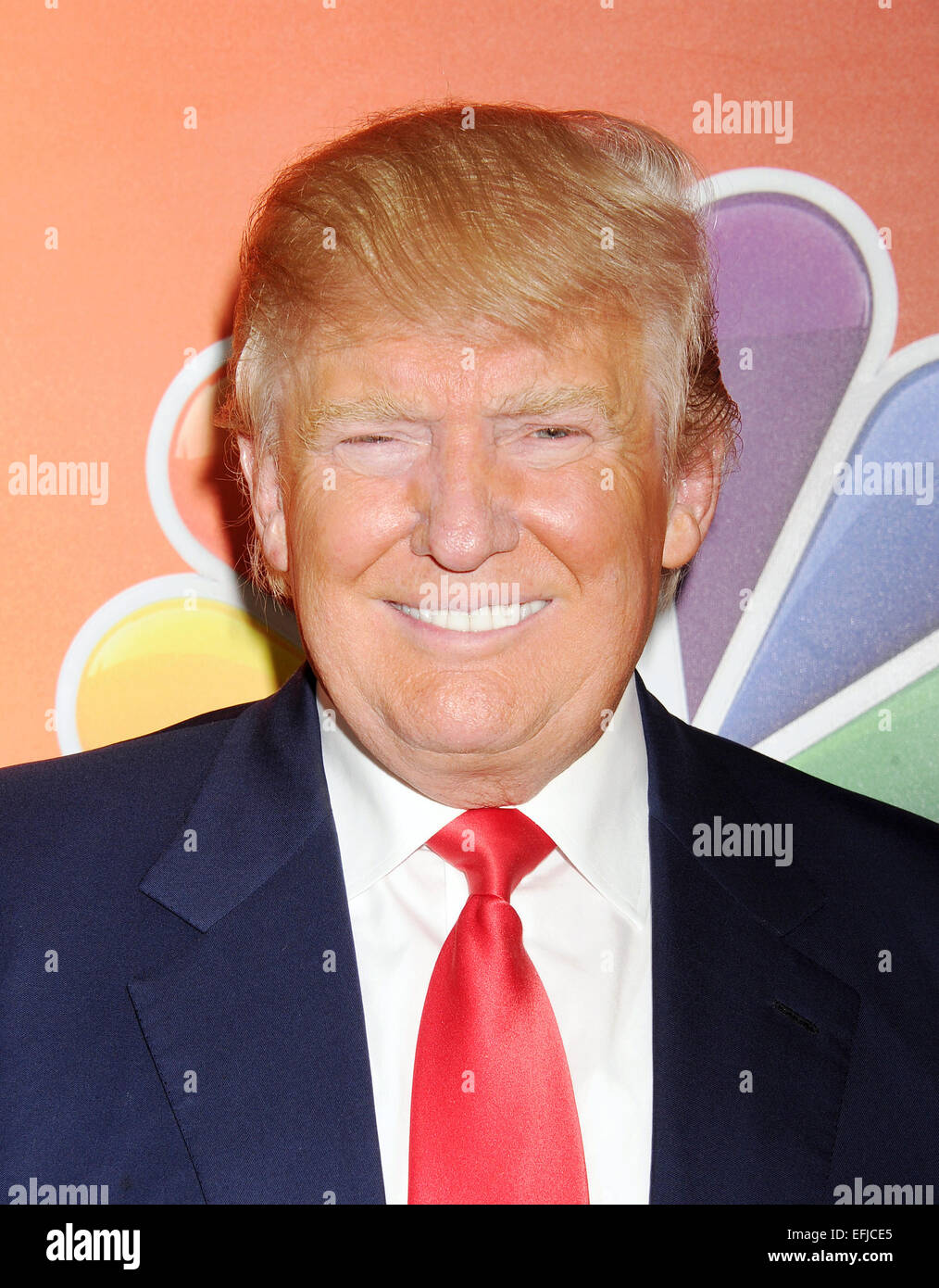 DONALD TRUMP US entrepreneur  in January 2015. Photo Jeffrey Mayer - Stock Image