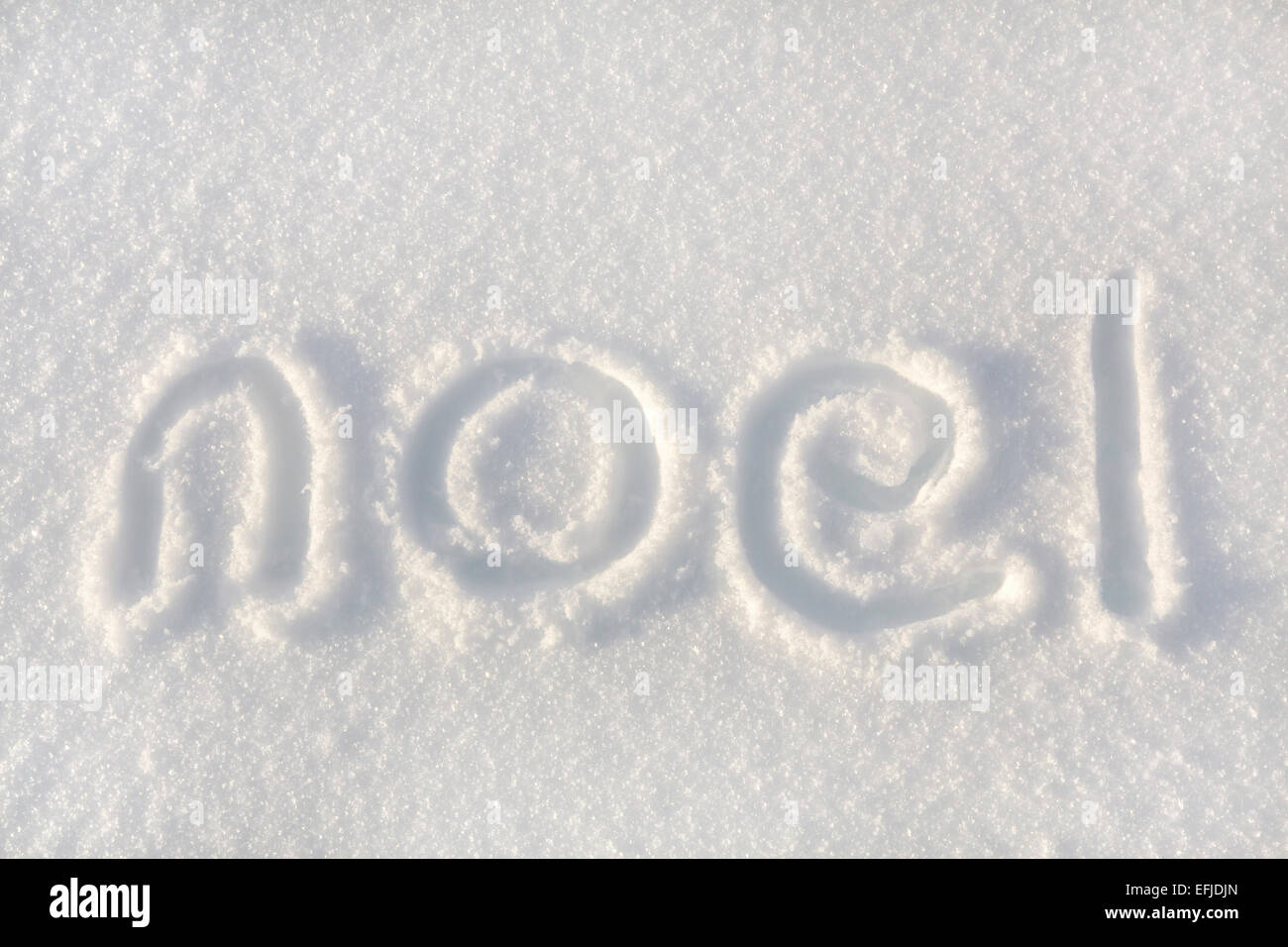 Happy Christmas Writing In Snow Stock Photos Happy Christmas