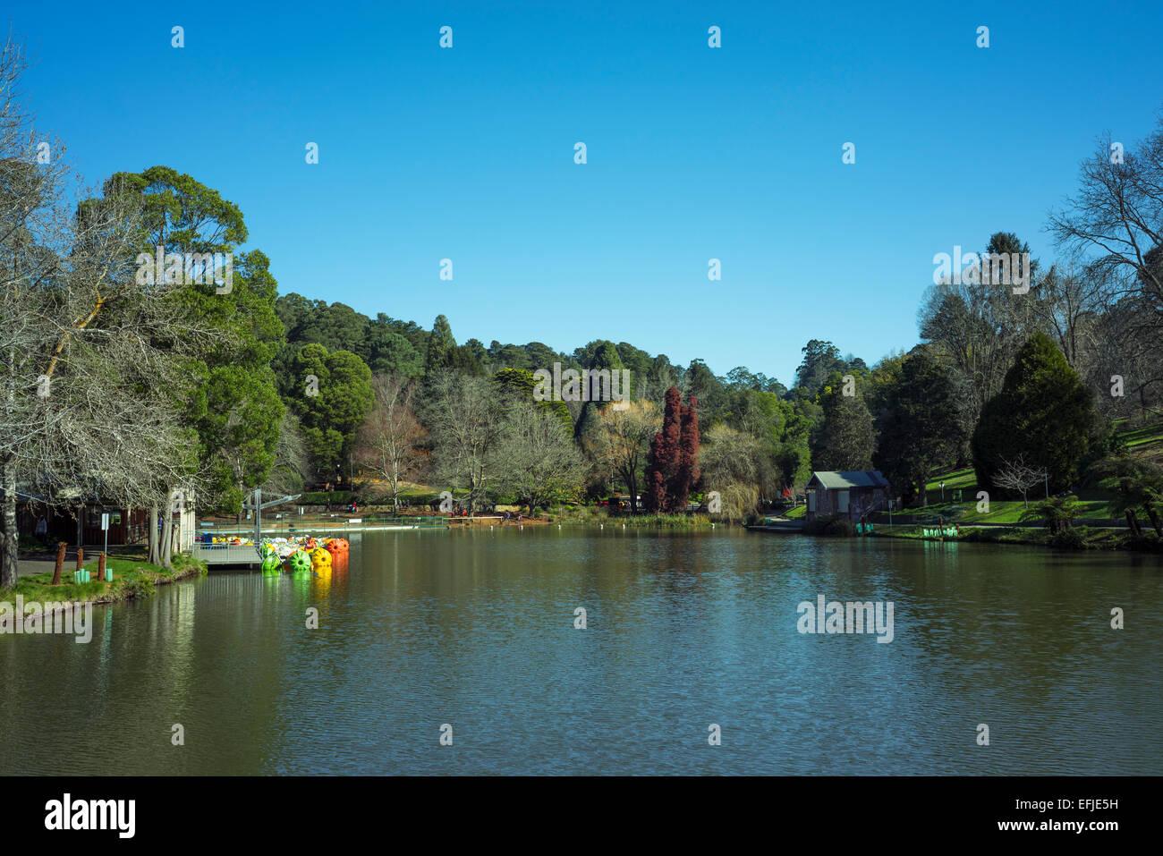 Emerald Lake Park, Melbourne, Australia - Stock Image