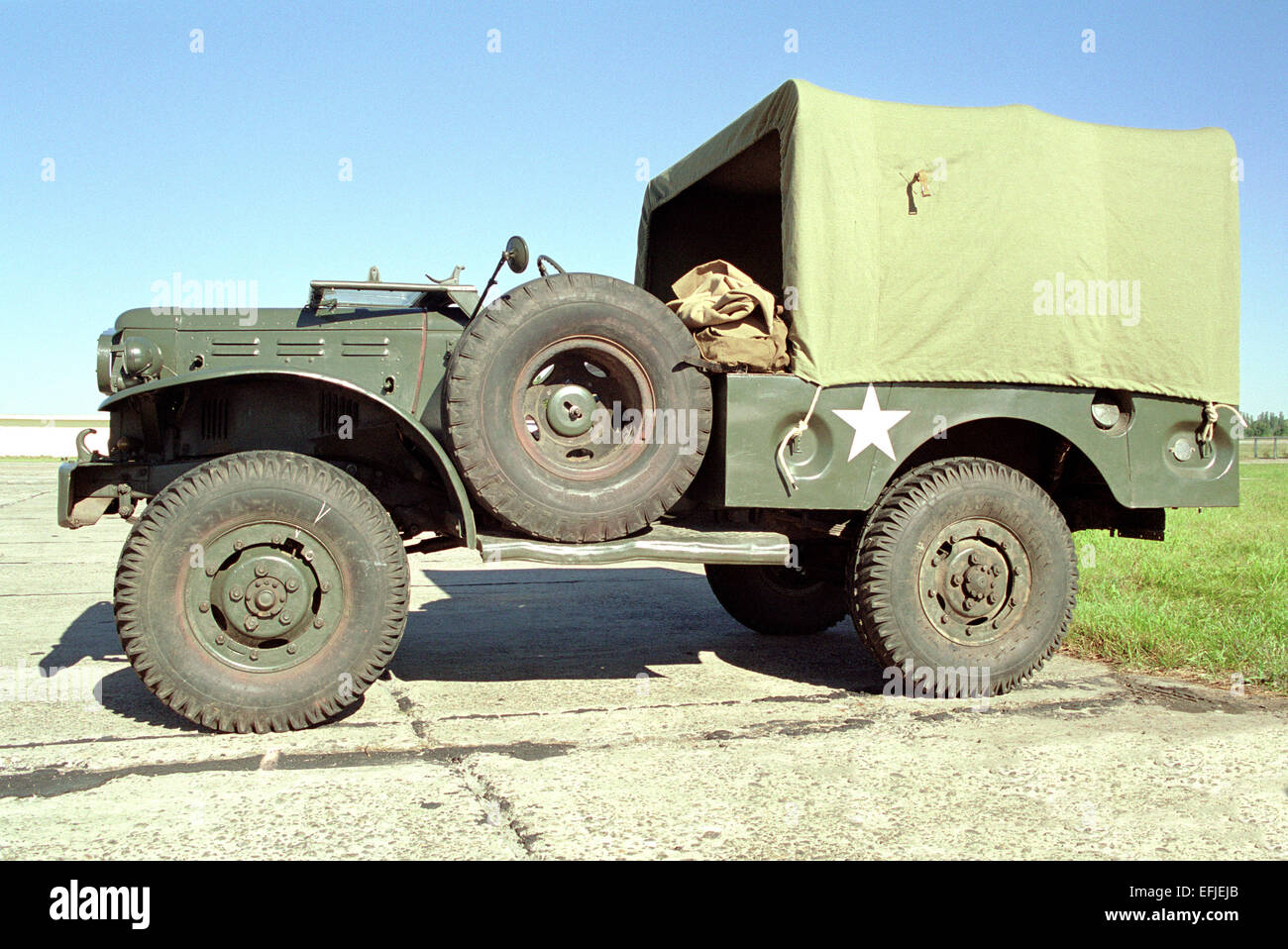 Dodge WC-series on display military - Stock Image