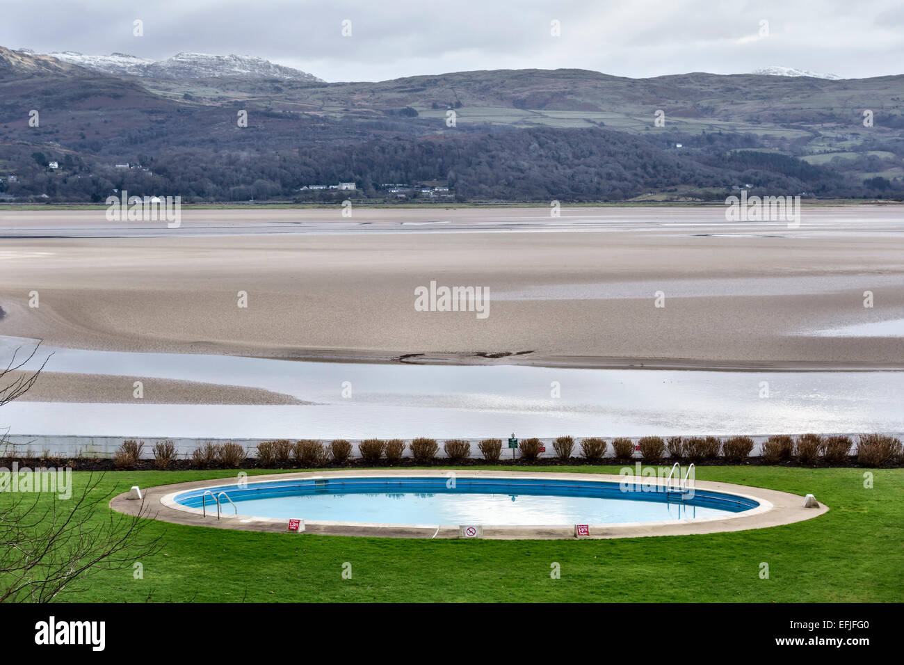 Portmeirion north wales the portmeirion hotel swimming pool stock photo 78468656 alamy for North wales hotels with swimming pools