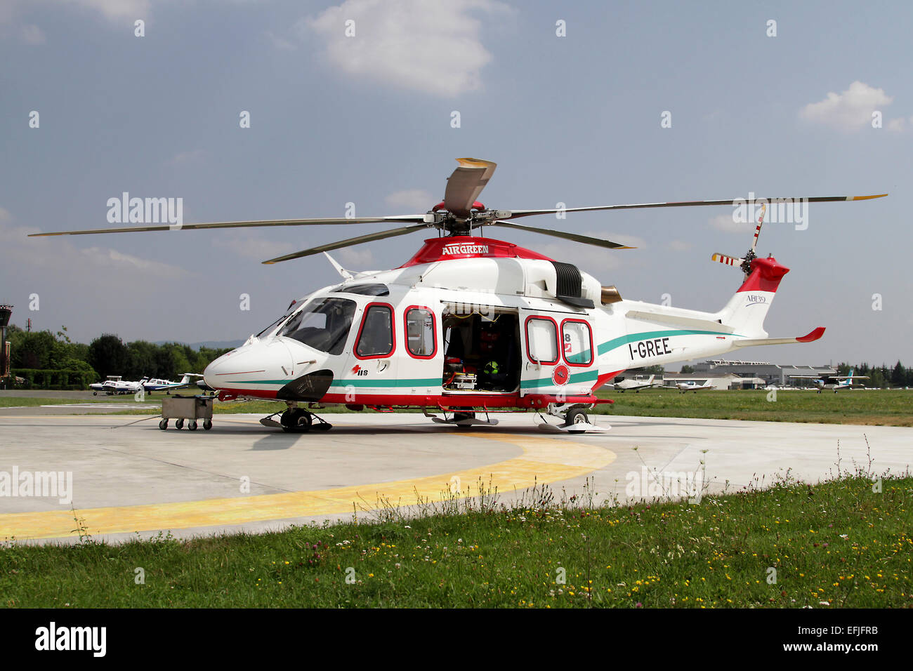AgustaWestland AW139 Air Ambulance, Collegno, Italy. - Stock Image