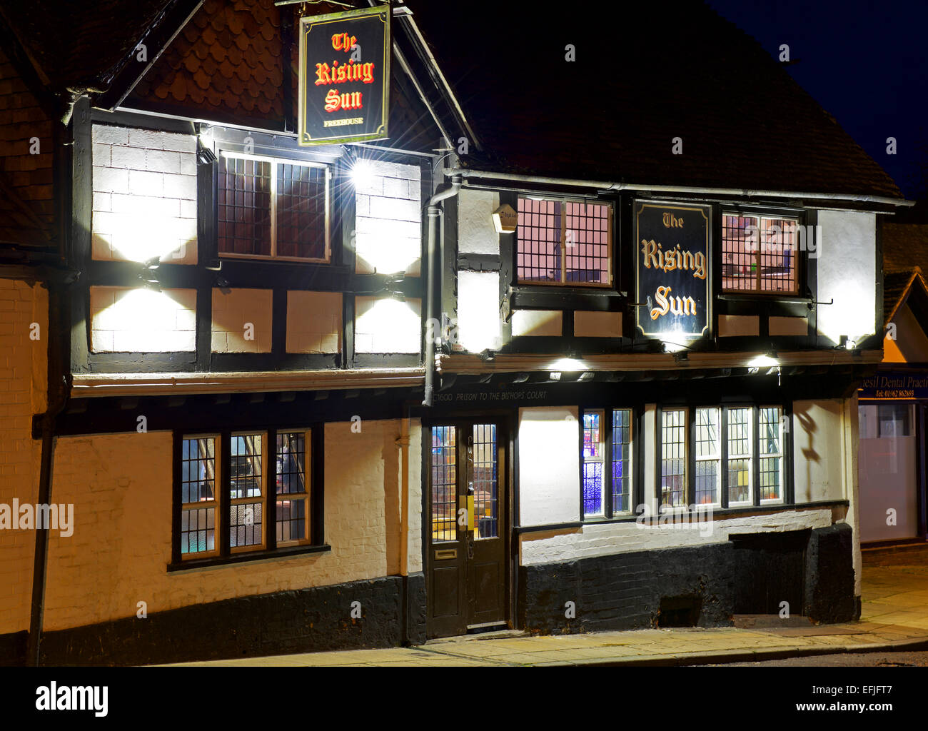 The Rising Sun pub, Winchester, Hampshire, England UK - Stock Image