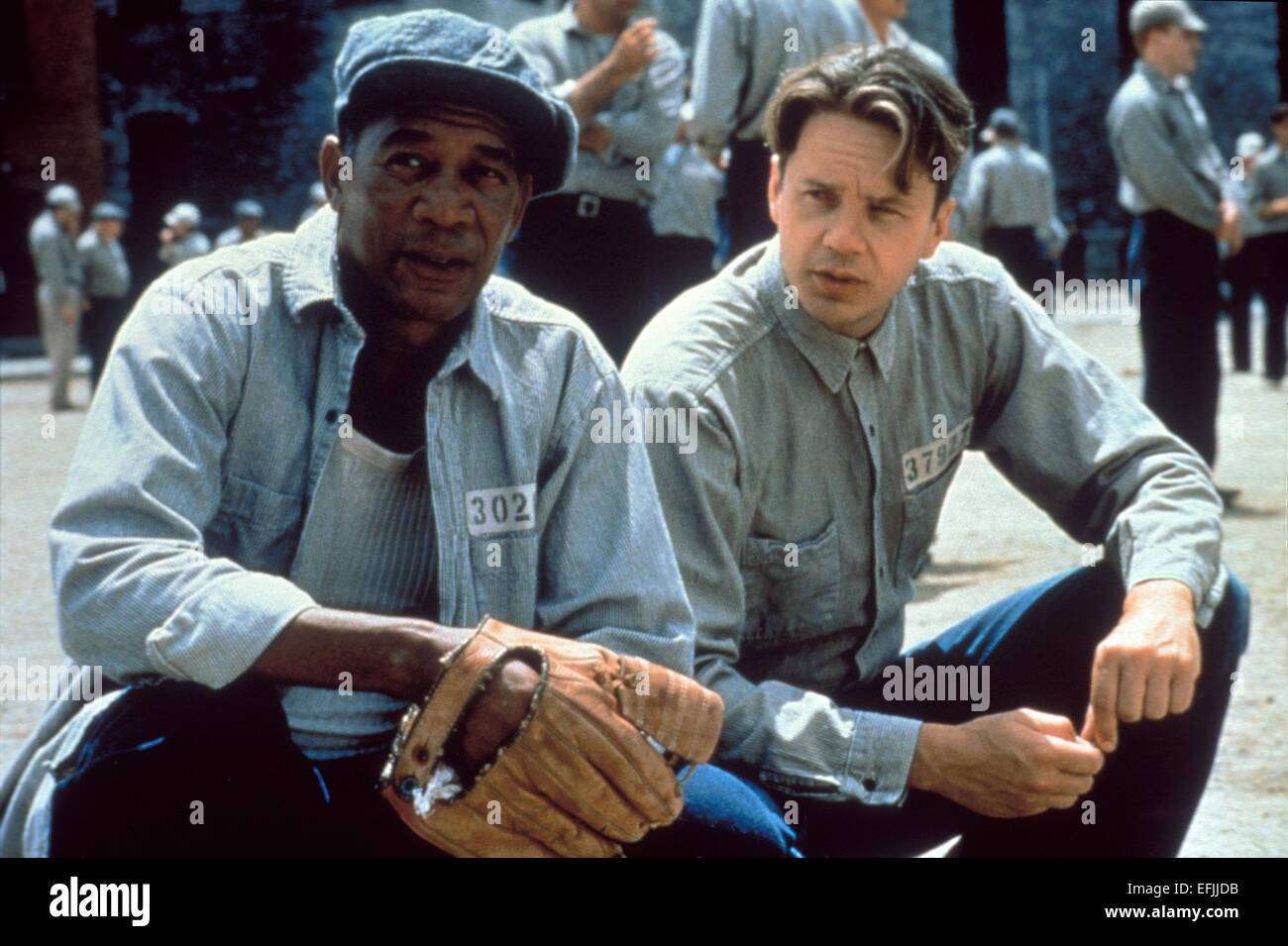 MORGAN FREEMAN, TIM ROBBINS, THE SHAWSHANK REDEMPTION, 1994 - Stock Image