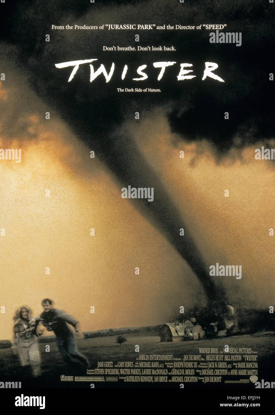 Helen Hunt Bill Paxton Movie Poster Twister 1996 Stock Photo Alamy
