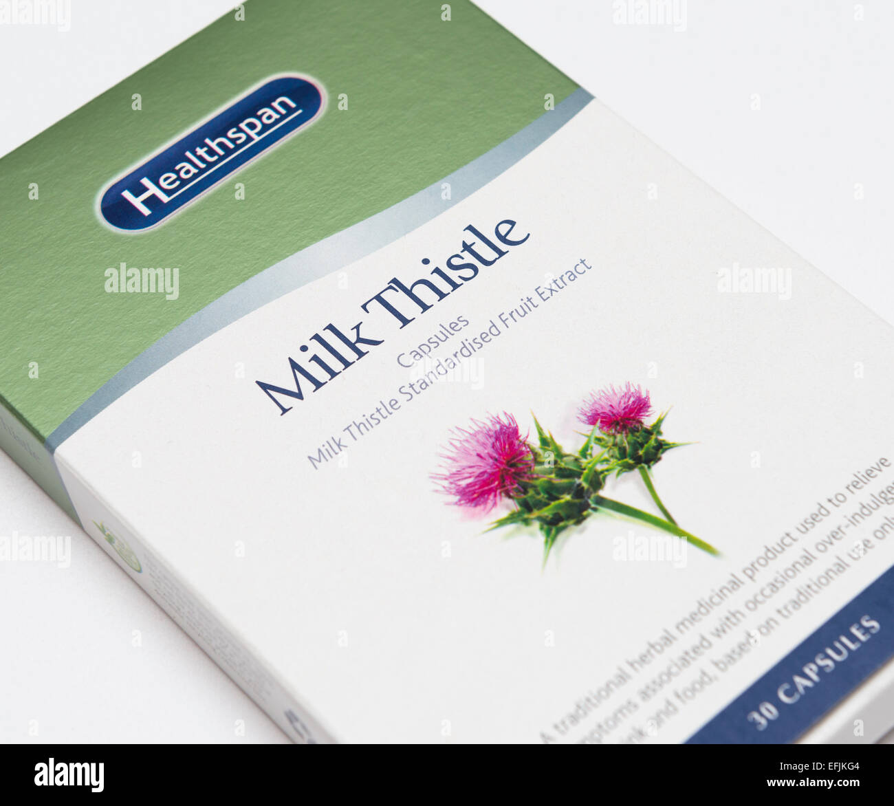 Milk Thistle tablets - Stock Image
