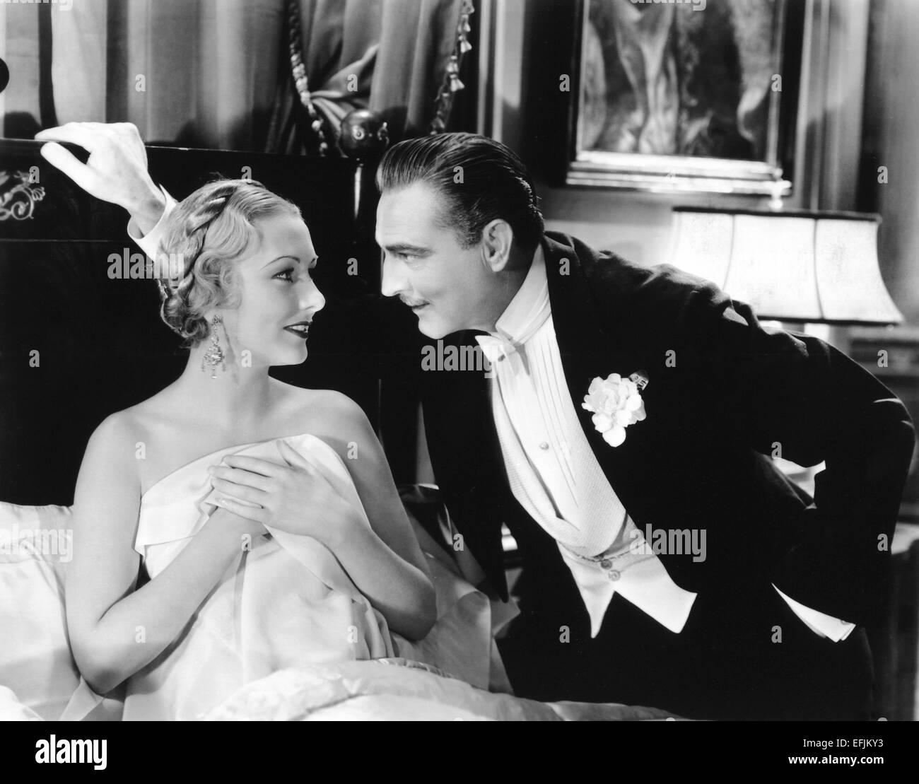 JOHN BARRYMORE, KAREN MORLEY, ARSENE LUPIN, 1932 Stock Photo