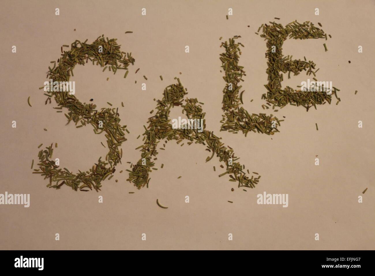 a sale sign,a sale poster , item on sale,sales,product sale,store sale - Stock Image