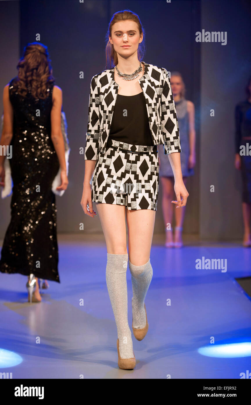 Models wearing high street designs during the Shopstyle fashion show at Clothes Show Live 2014, Birmingham NEC, - Stock Image