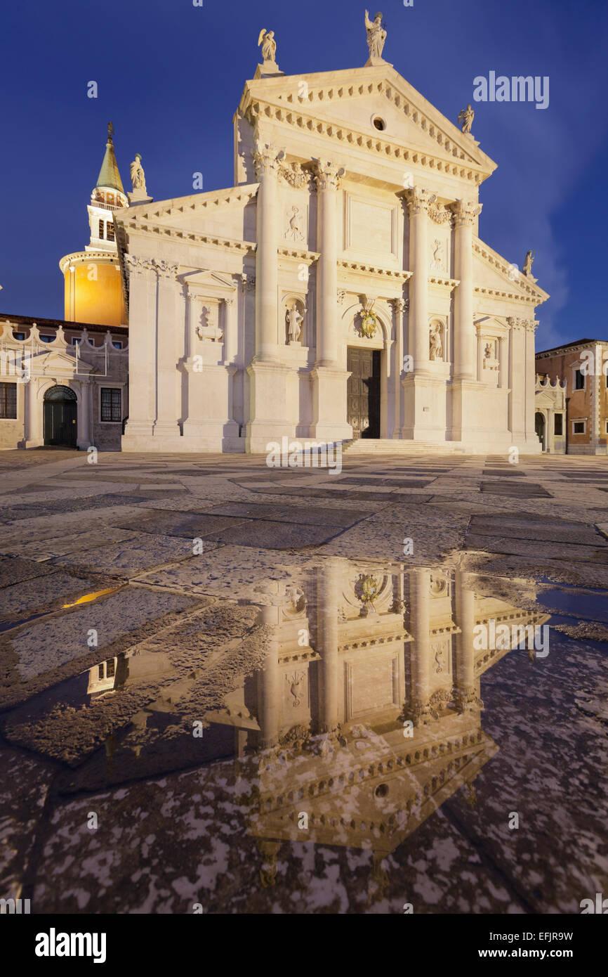 Fassad of the church San Giorgio Maggiore, Venedig, Italien - Stock Image