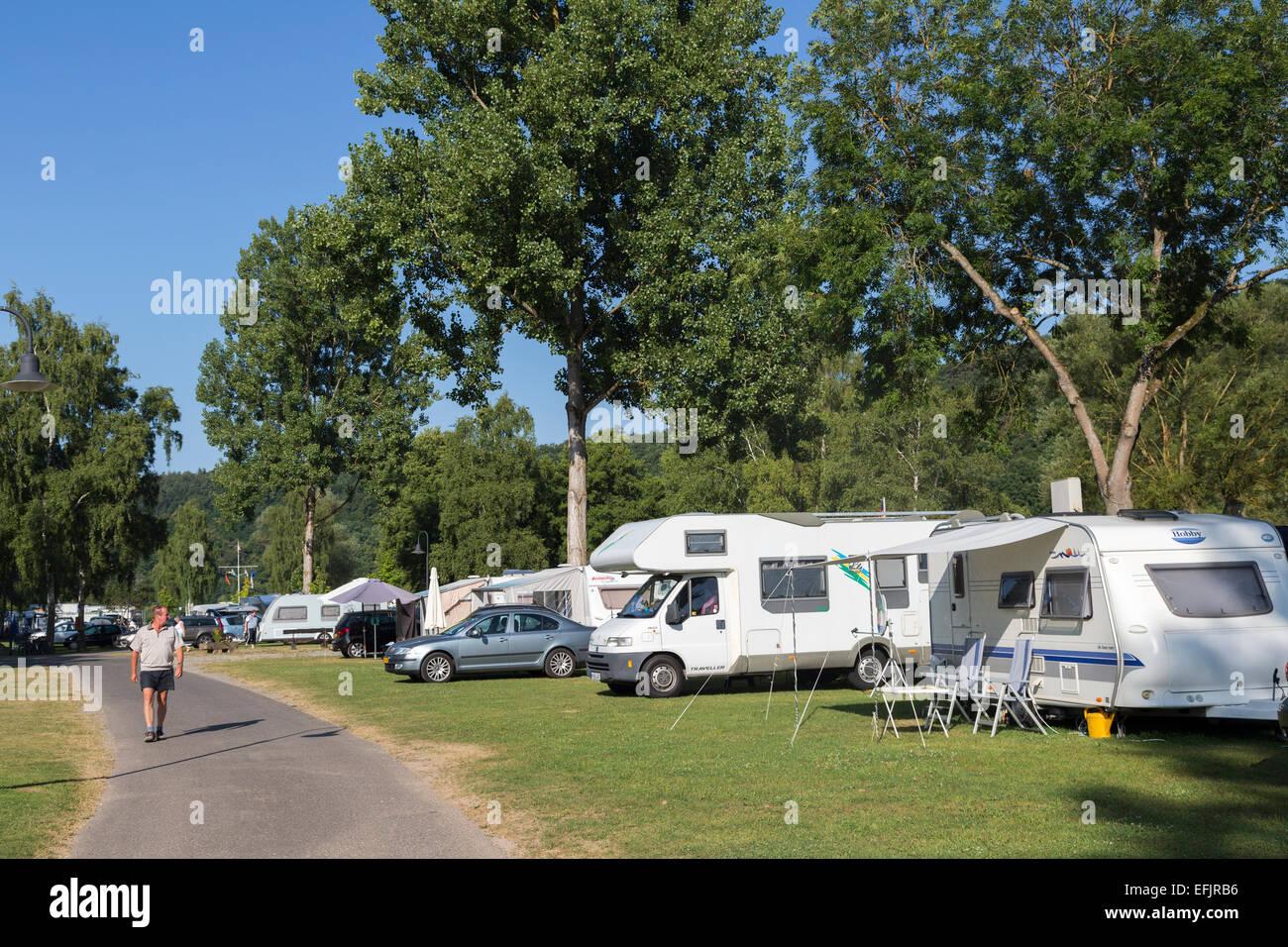 Campsite at Wertheim-Bettingen, Germany - Stock Image