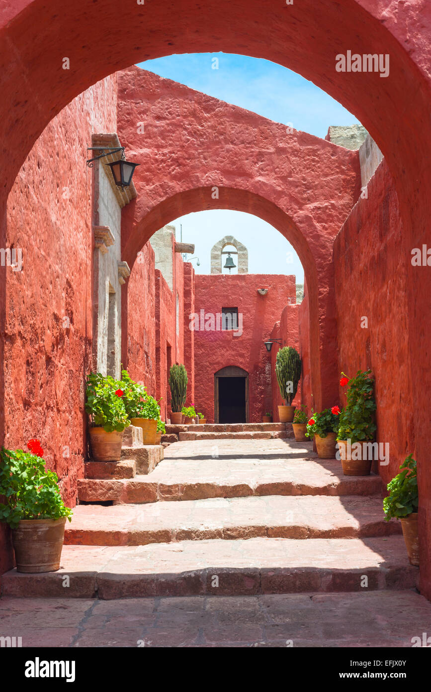 Santa Catalina Monastery, Arequipa, it's the most important religious monument of Peru - Stock Image