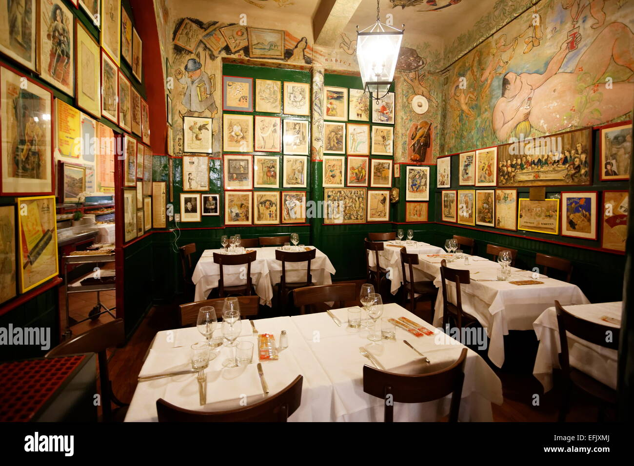 traditional italian restaurant milan lombardy italy stock photo 78477410 alamy. Black Bedroom Furniture Sets. Home Design Ideas