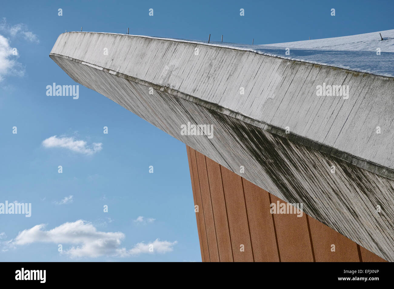 The Haus der Kulturen der Welt (House of World Cultures) in Berlin, detail shot of the roof. - Stock Image