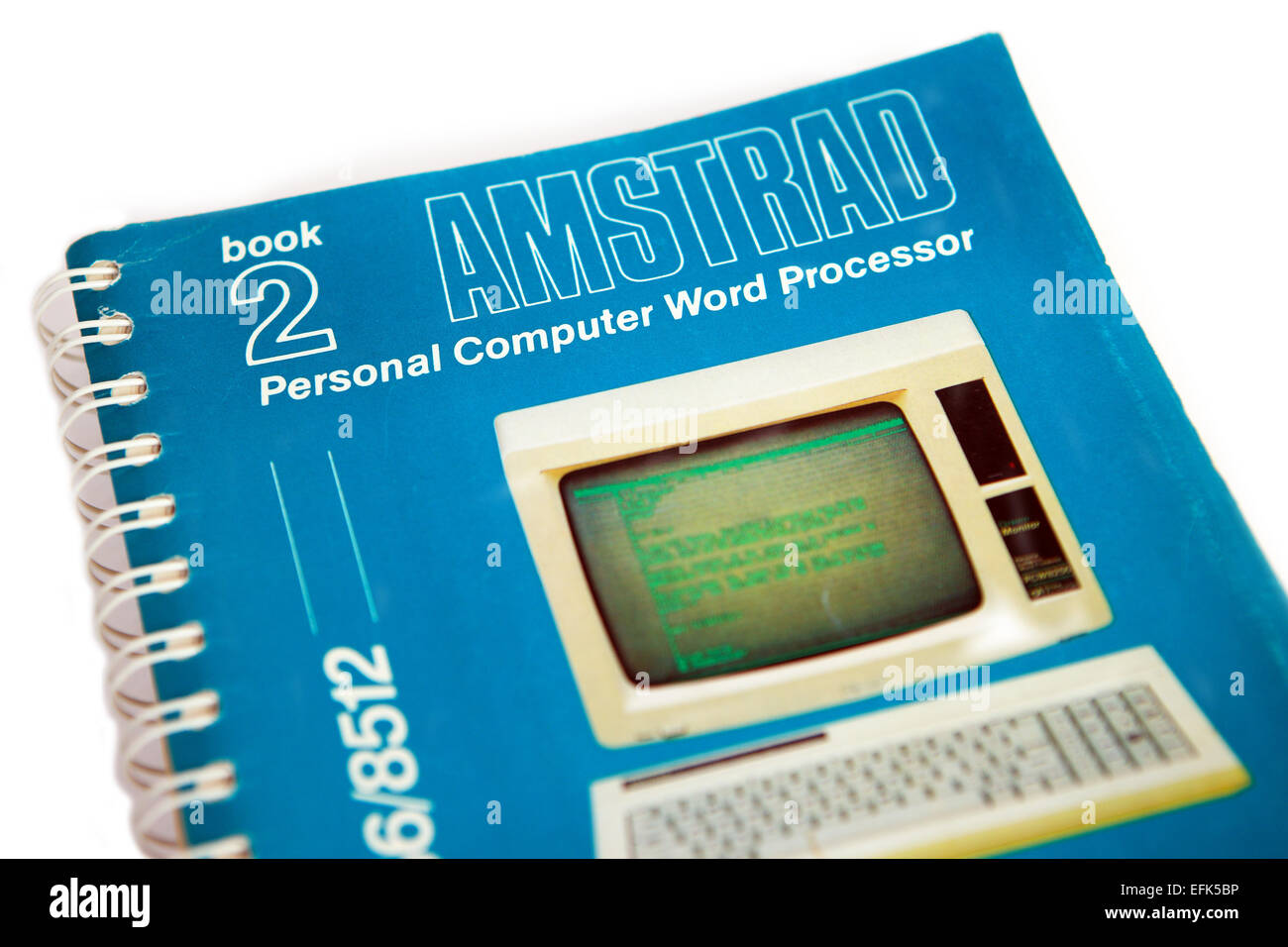 Amstrad personal computer Word Processing book - Stock Image