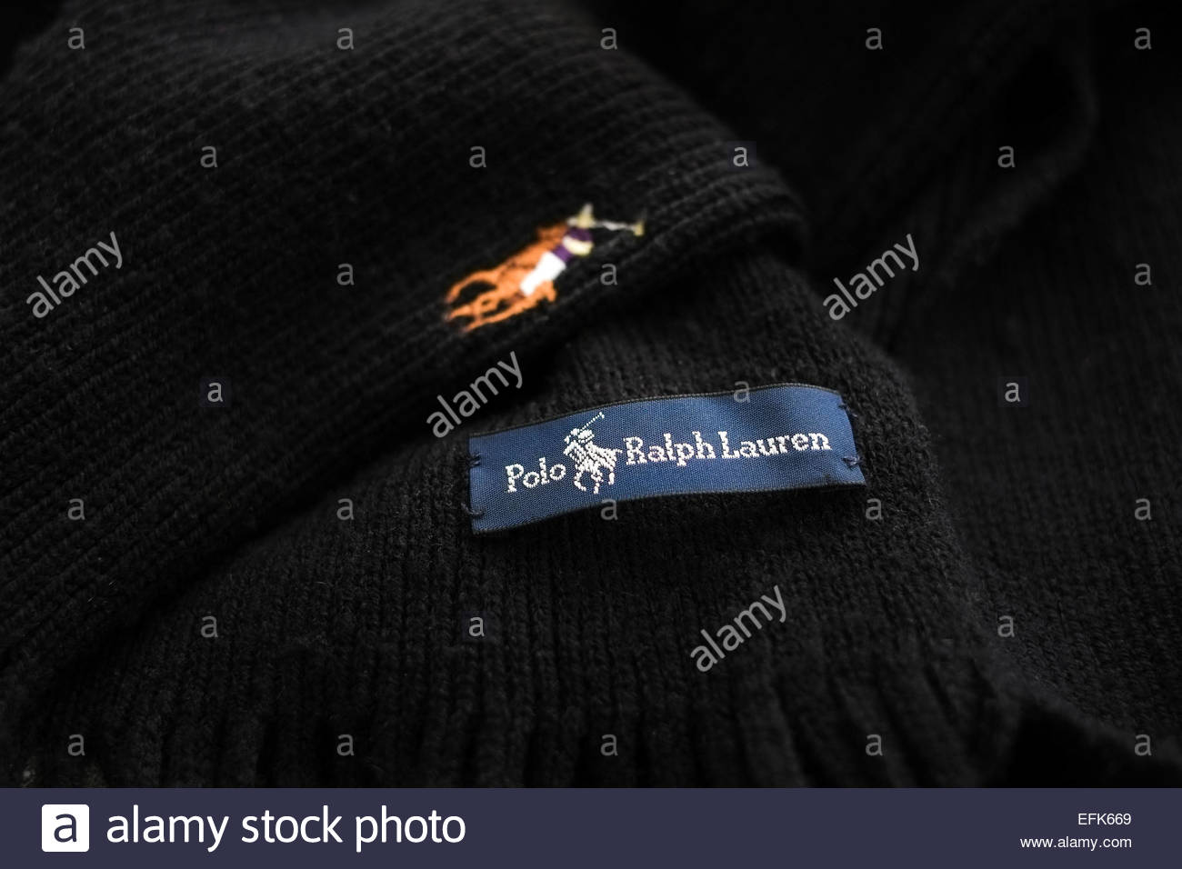 Ralph Lauren Polo logo icon - Stock Image
