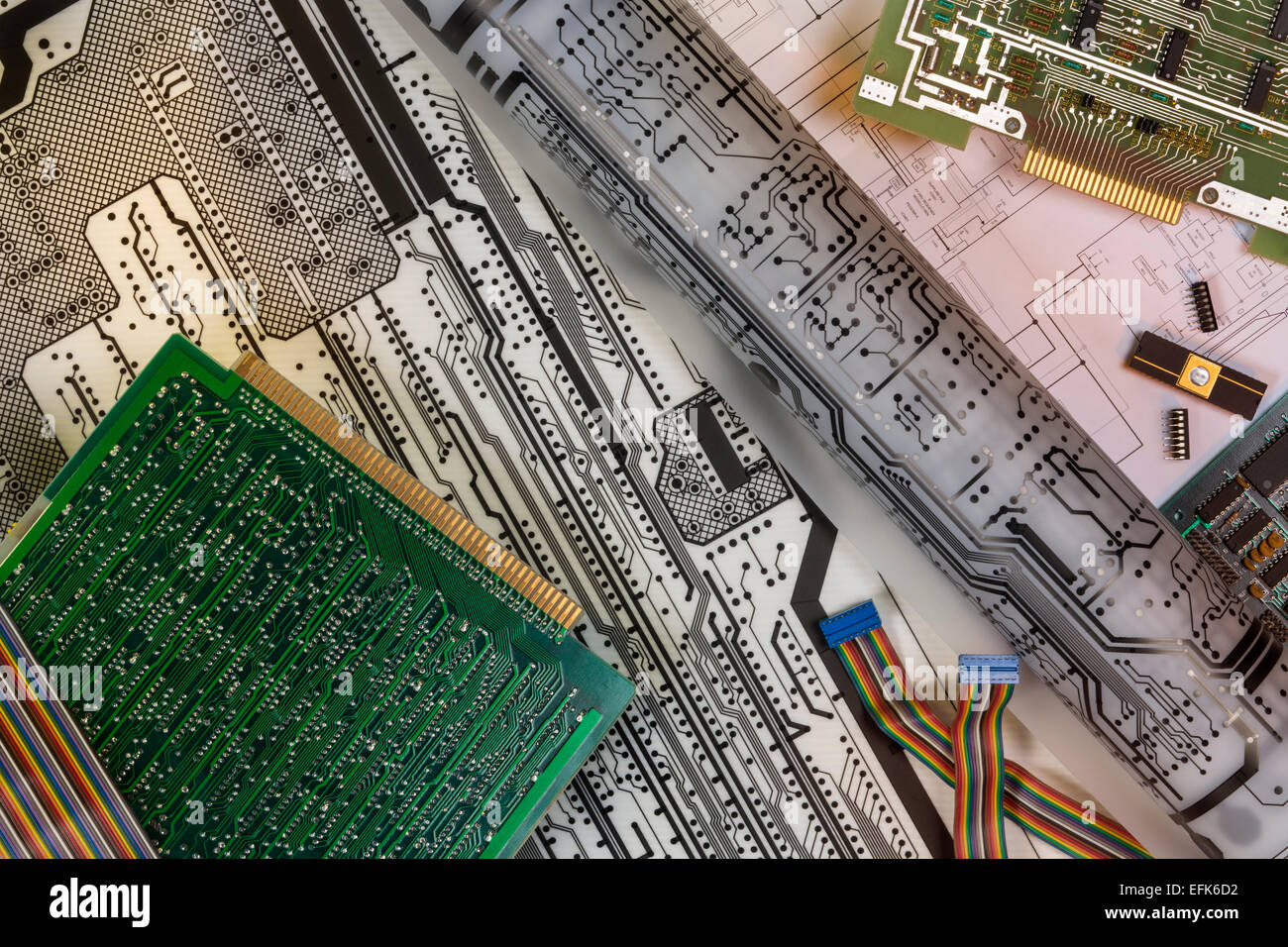 Electronics - The design of Printed Circuit Boards - Stock Image