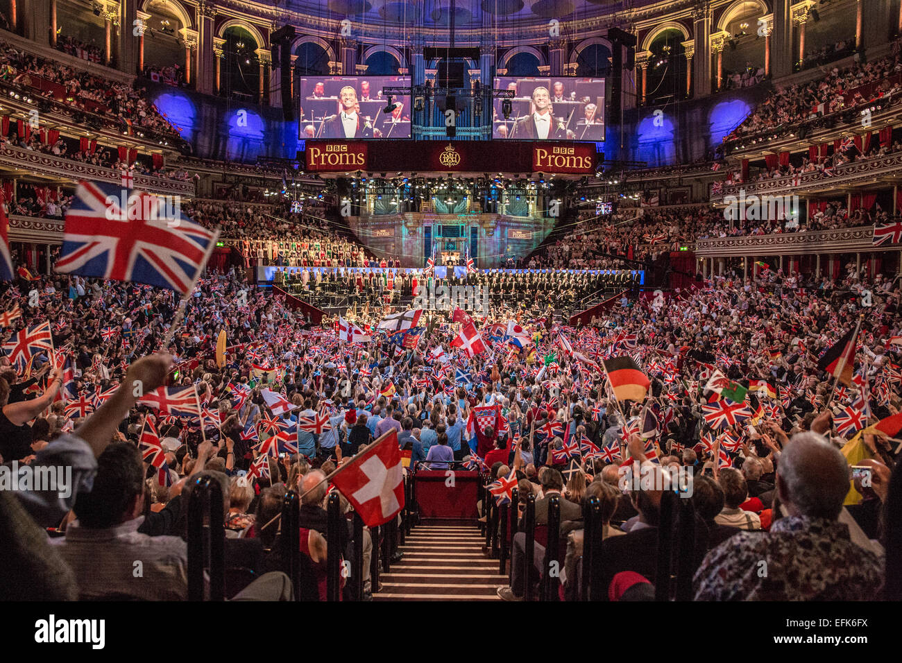 Last Night of the Proms at Royal Albert Hall, London, UK. - Stock Image