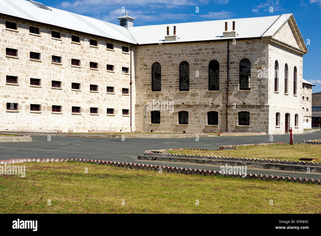 The main block at Fremantle Prison, Fremantle, Perth, Western Australia - Stock Image