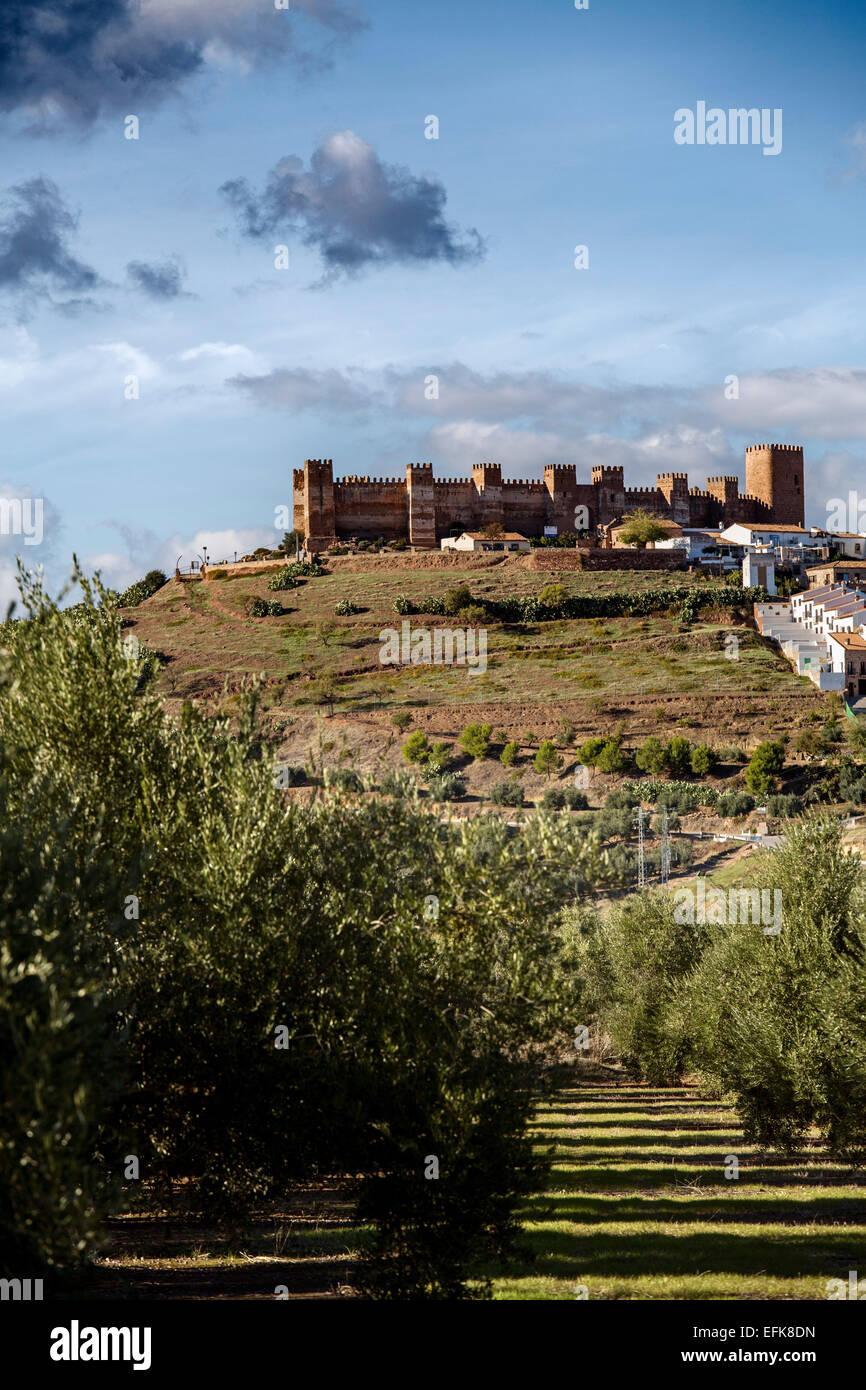 Castle Baños de la Encina Village Jaen Andalusia Spain - Stock Image