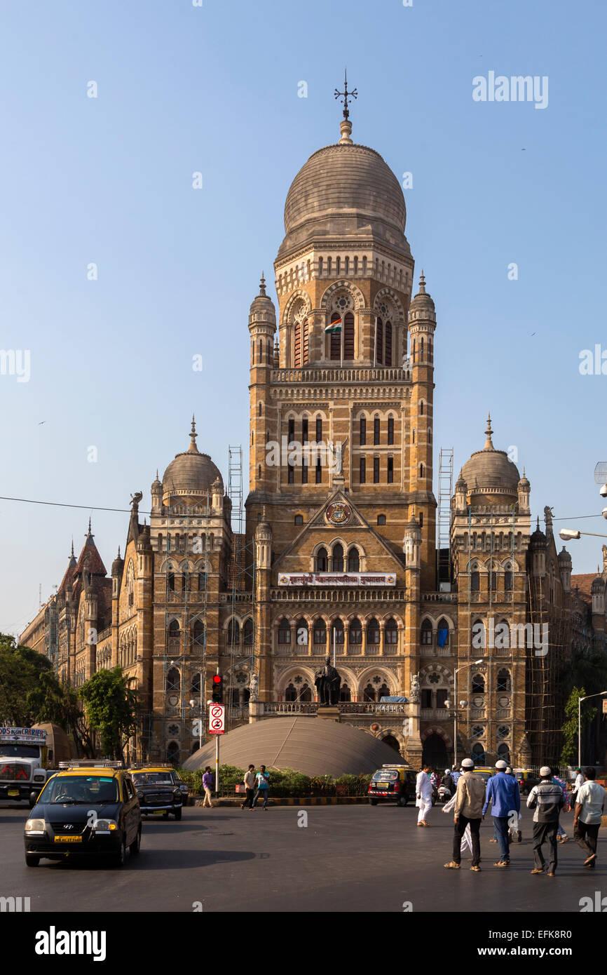 India, Maharashtra, Mumbai, Municipal Corporation Building - Stock Image