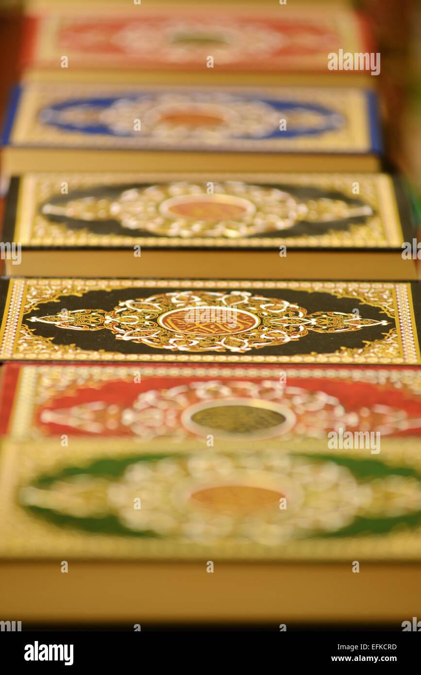 Copies of the Holy Koran - Stock Image