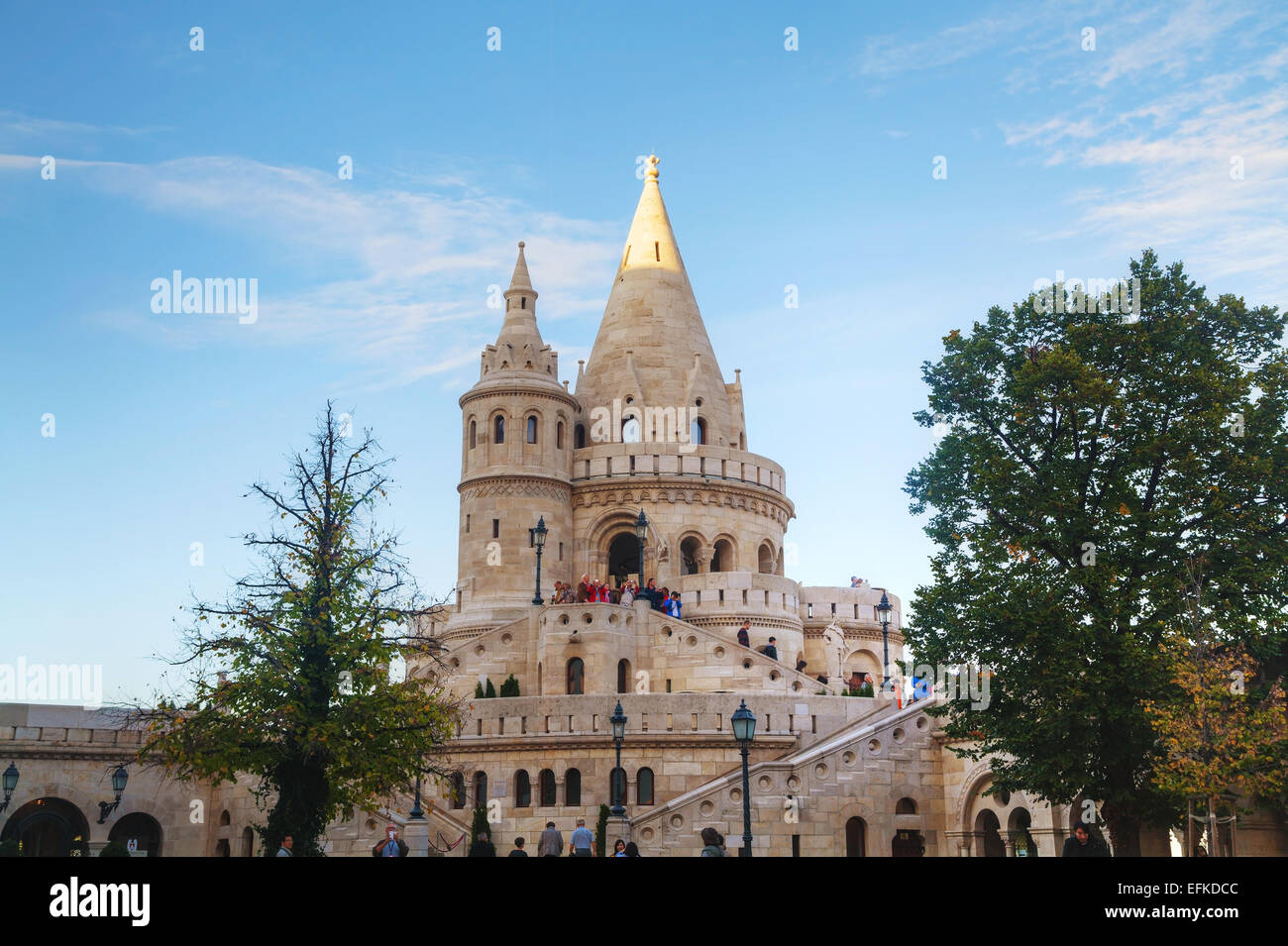 BUDAPEST - OCTOBER 21: Fisherman bastion on October 21, 2014 in Budapest, Hungary. - Stock Image