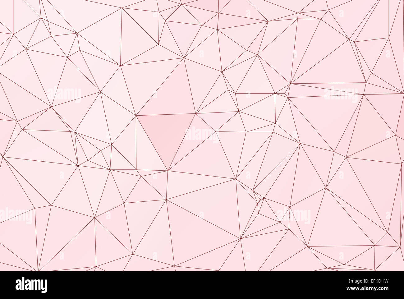 Pastel polygon geometric with  triangle parametric shape - Stock Image