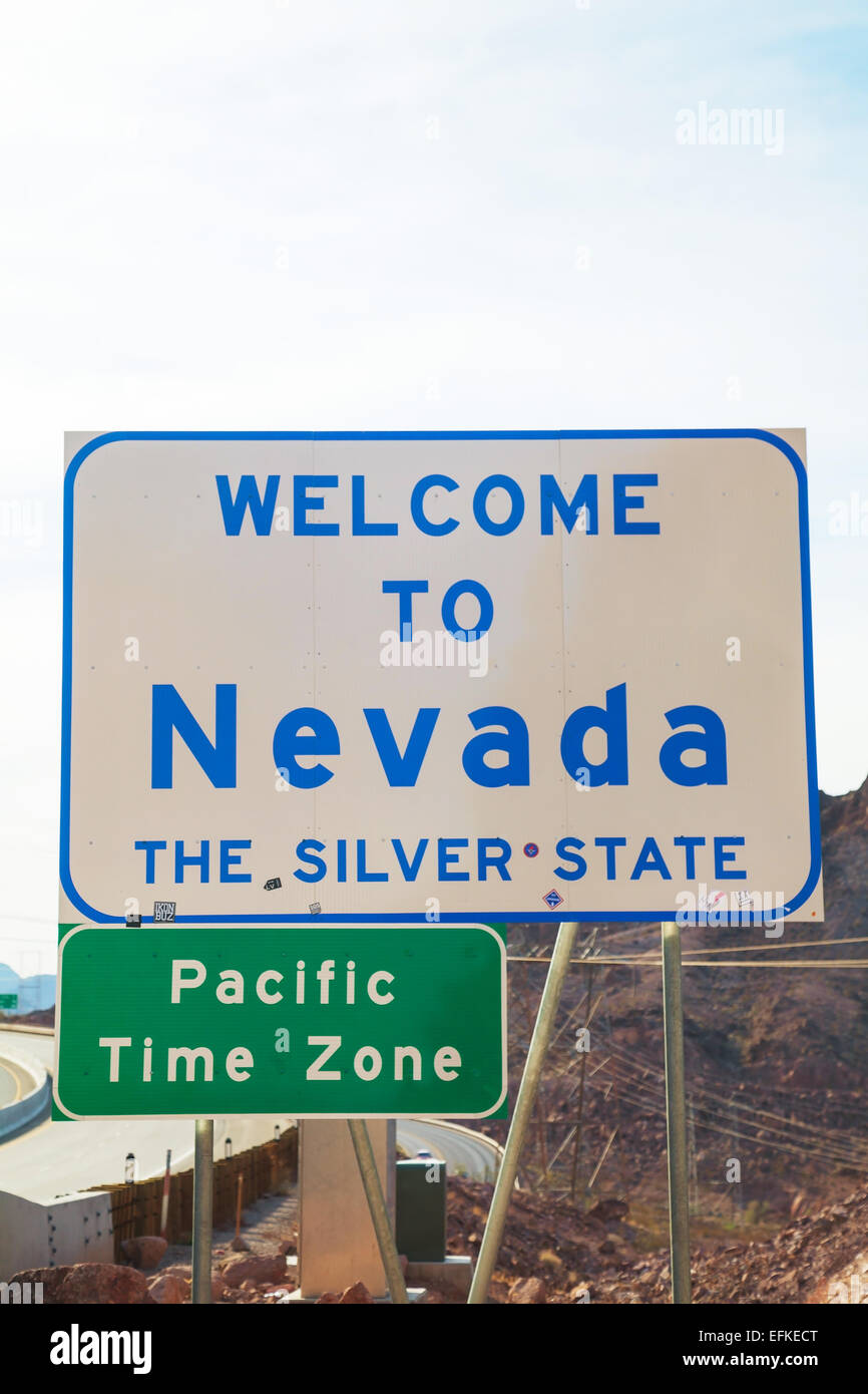 Welcome to Nevada road sign | High-Quality Transportation