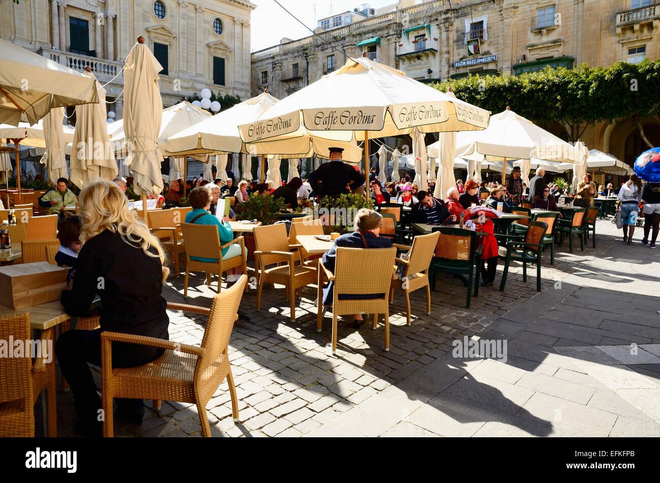 Valletta is the capital of Malta - Stock Image