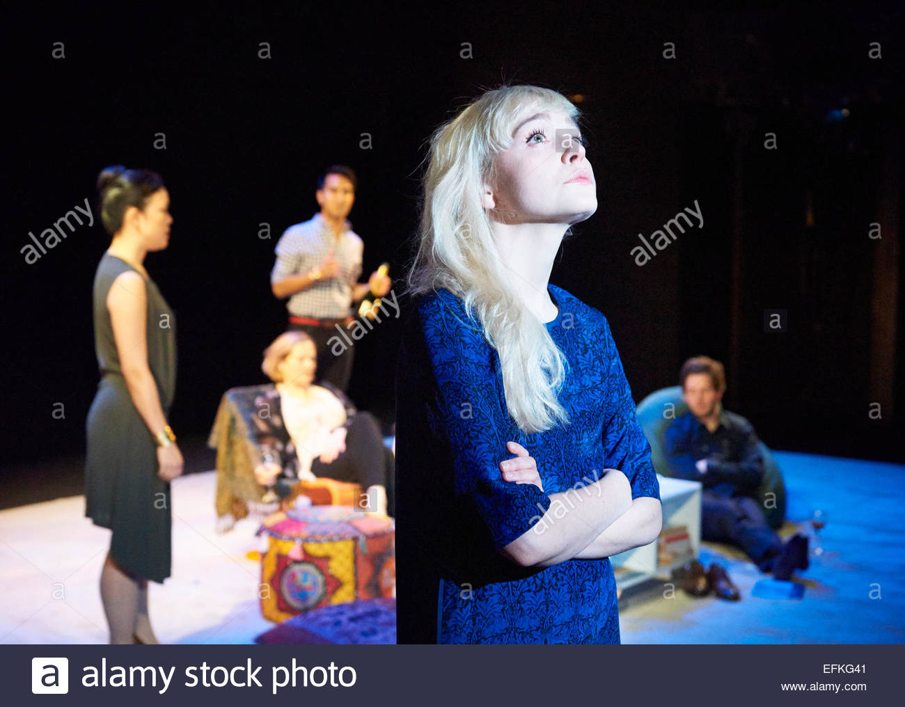 The Hard Problem. A new play by Tom Stoppard, directed by Nicholas Hytner. With Olivia Vinall as Hilary. Opens at - Stock Image