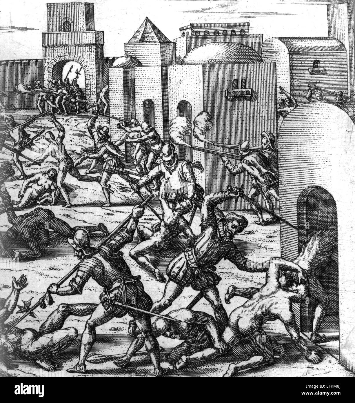 FRANCISCO PIZARRO (c 1471-1541) sacks Cuzco after the siege in 1533