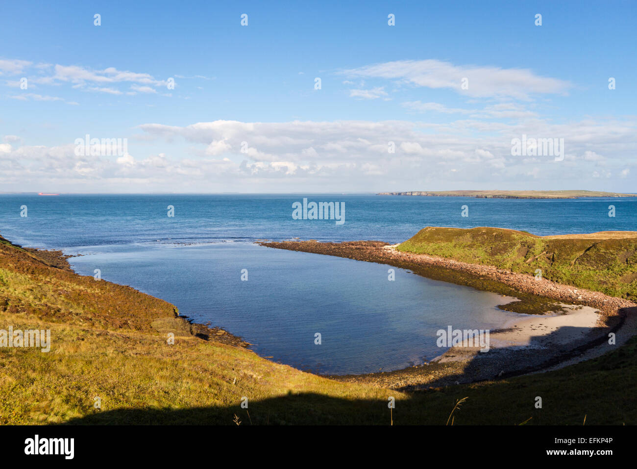 Scotland's Haven Bay, Caithness - Stock Image
