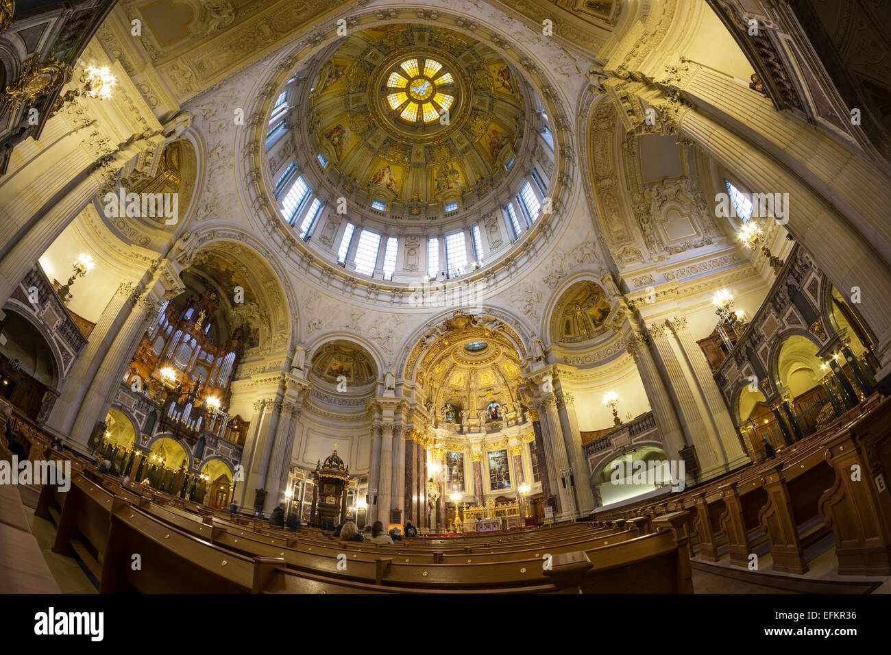 Ceiling of Dome Church in Berlin Cathedral - Stock Image