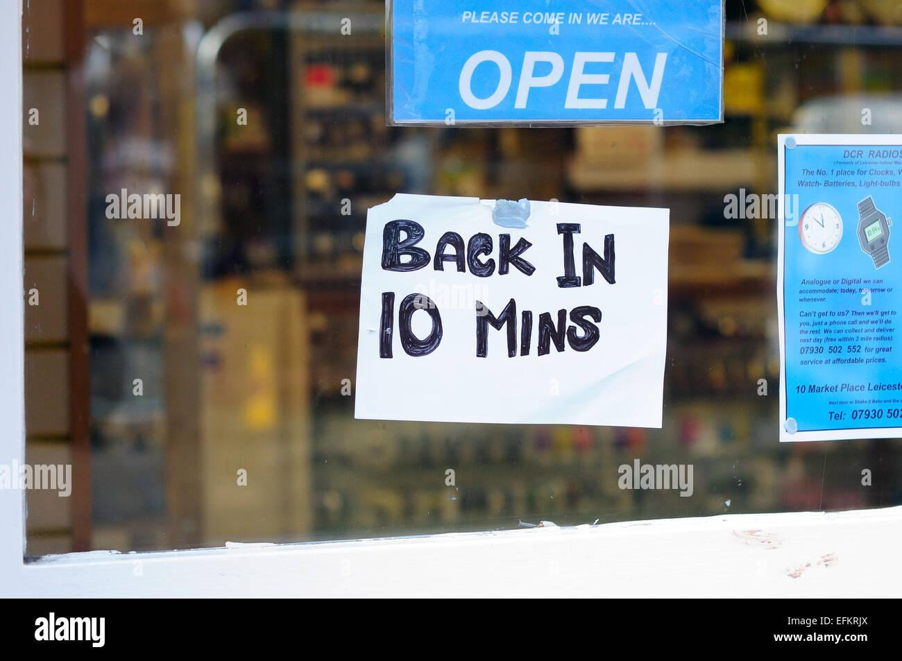 Sign In Shop Window . - Stock Image
