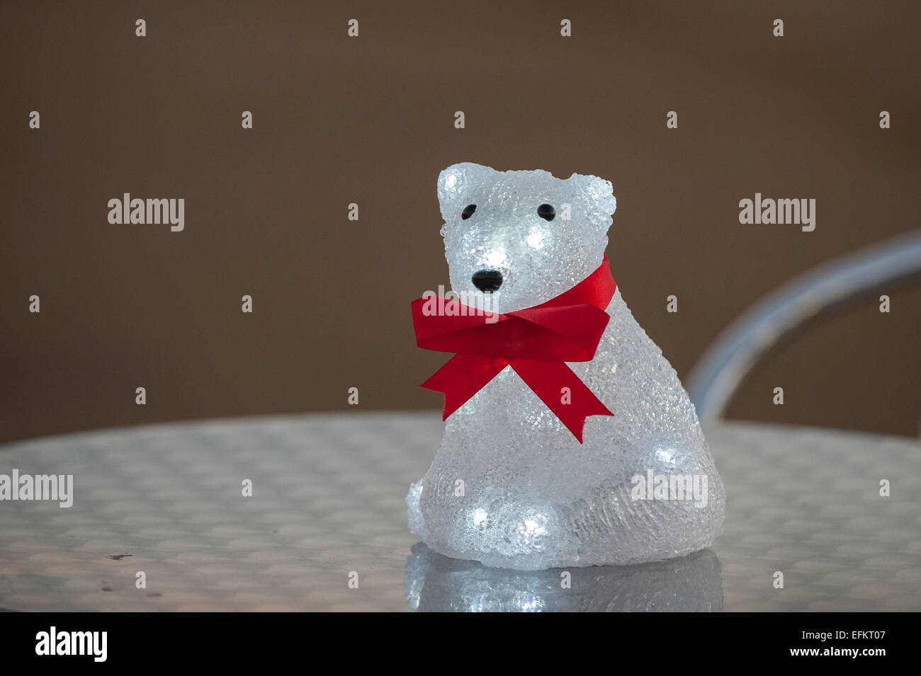 Queen Elizabeth Olympic Park, London, UK. 6 February 2015.  A polar bear table decoration at the launch to the UK - Stock Image