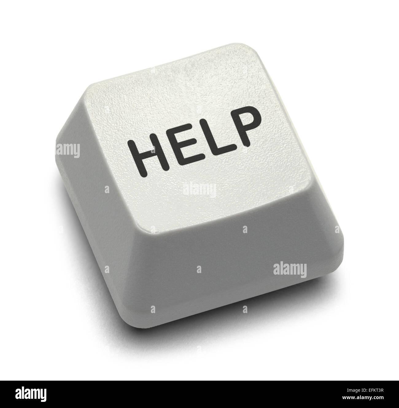 Customer Service Computer Help key Isolated on White Background. - Stock Image