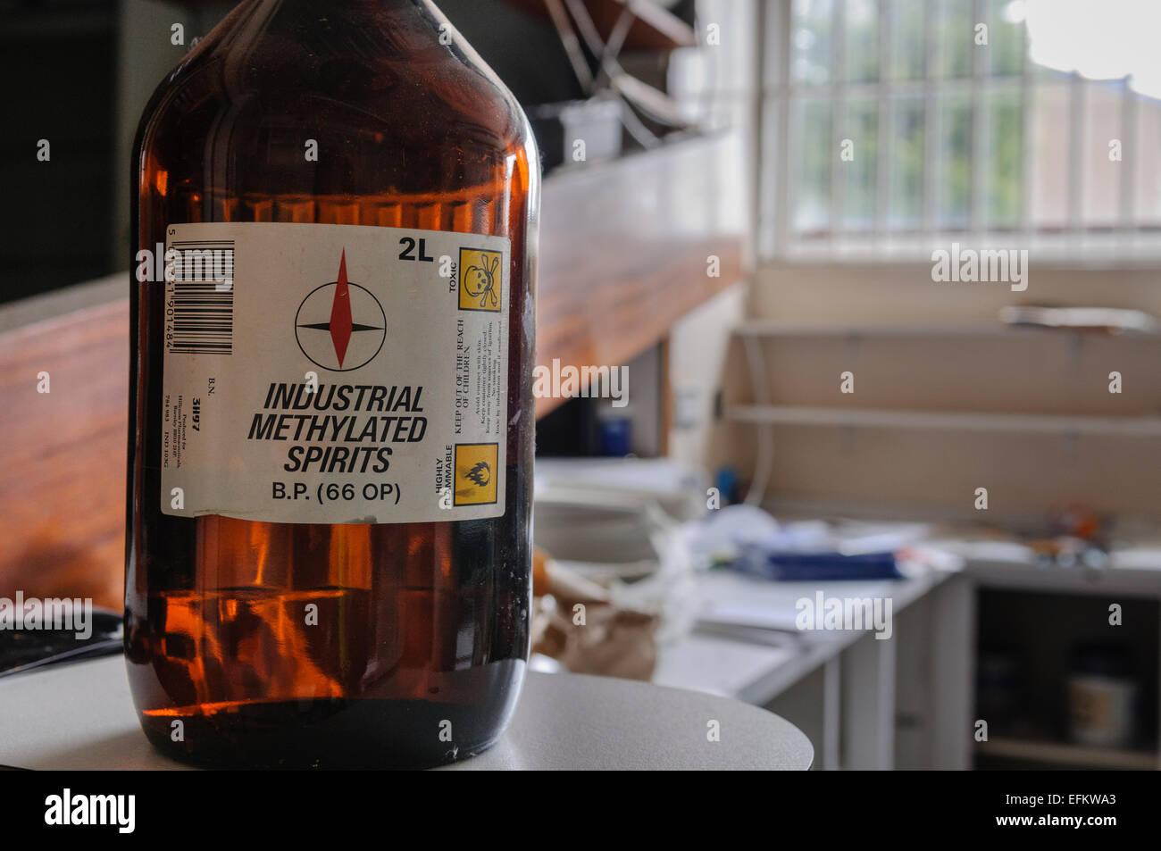 Denatured Alcohol Stock Photos & Denatured Alcohol Stock