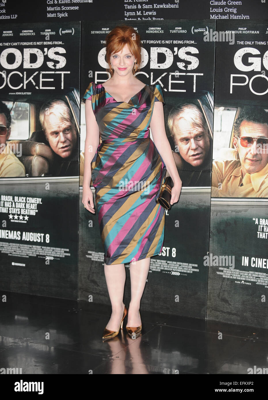 'God's Pocket' photocall held at the BFI Southbank in London  Featuring: Christina Hendricks Where: - Stock Image