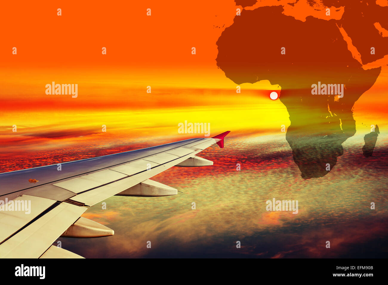 Africa Map Background.Wing Airplane On Africa Map Background Stock Photo 78507419 Alamy
