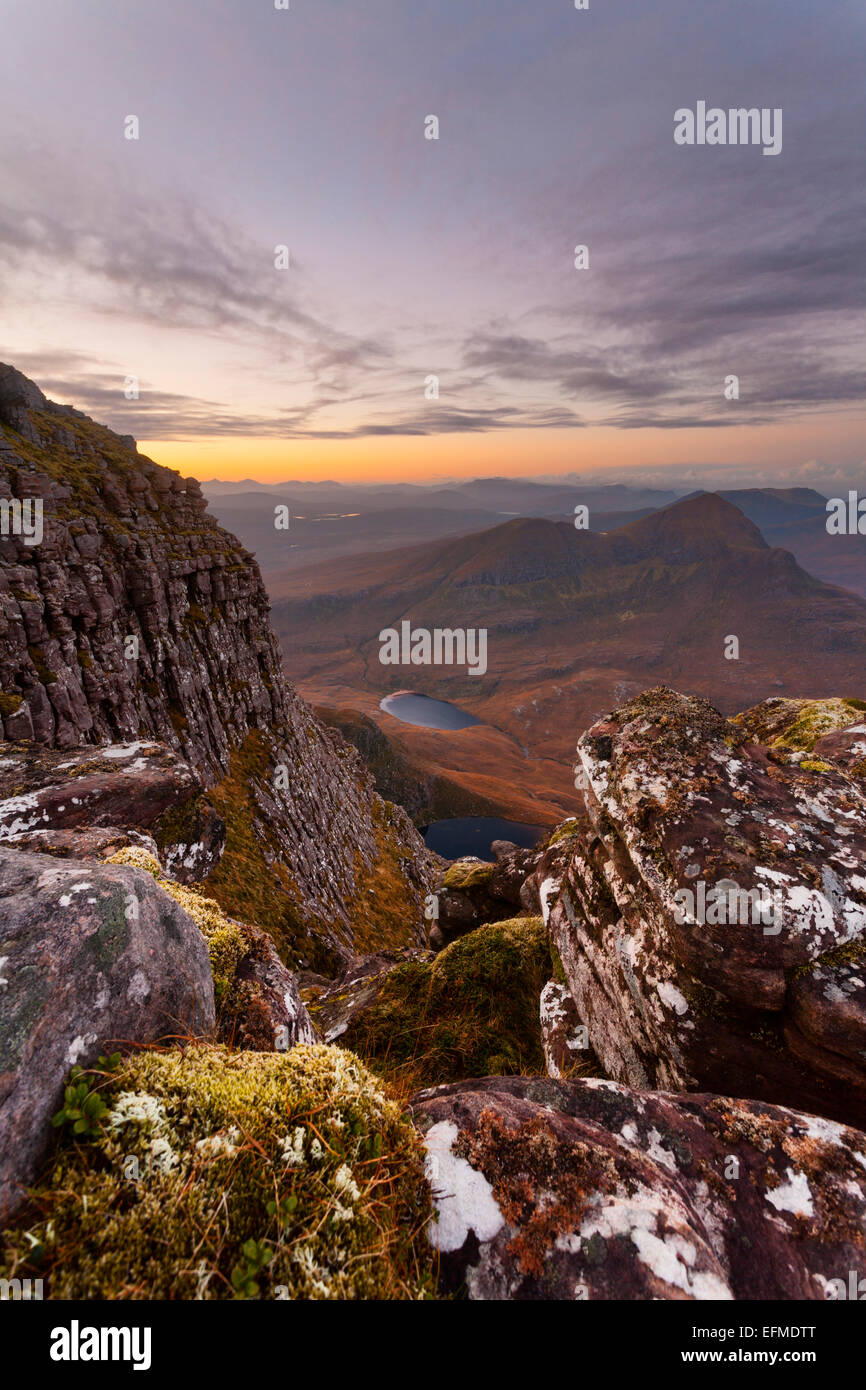 Cul Beag from Cul Mor at dawn - Stock Image