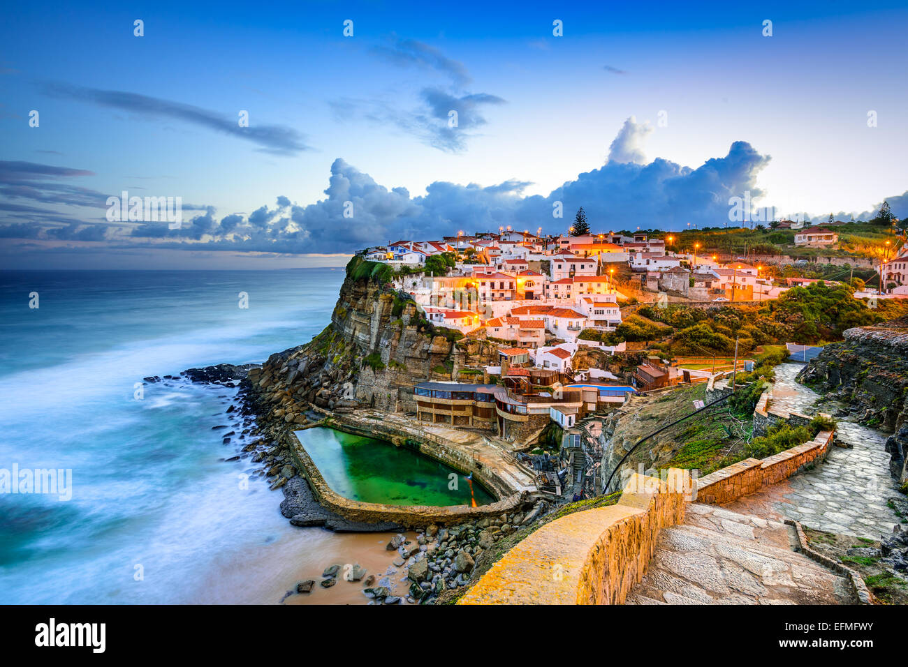 Azenhas do Mar, Portugal coastal town. - Stock Image