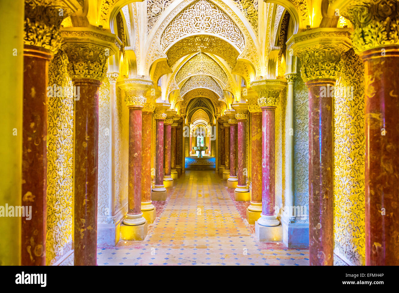 Monserrate Palace in Sintra, Portugal. - Stock Image