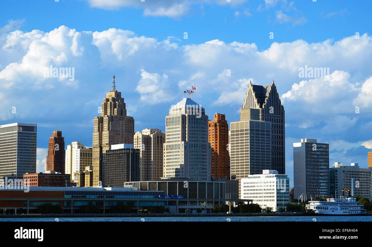 Detroit, Michigan,  United States of America - Stock Image
