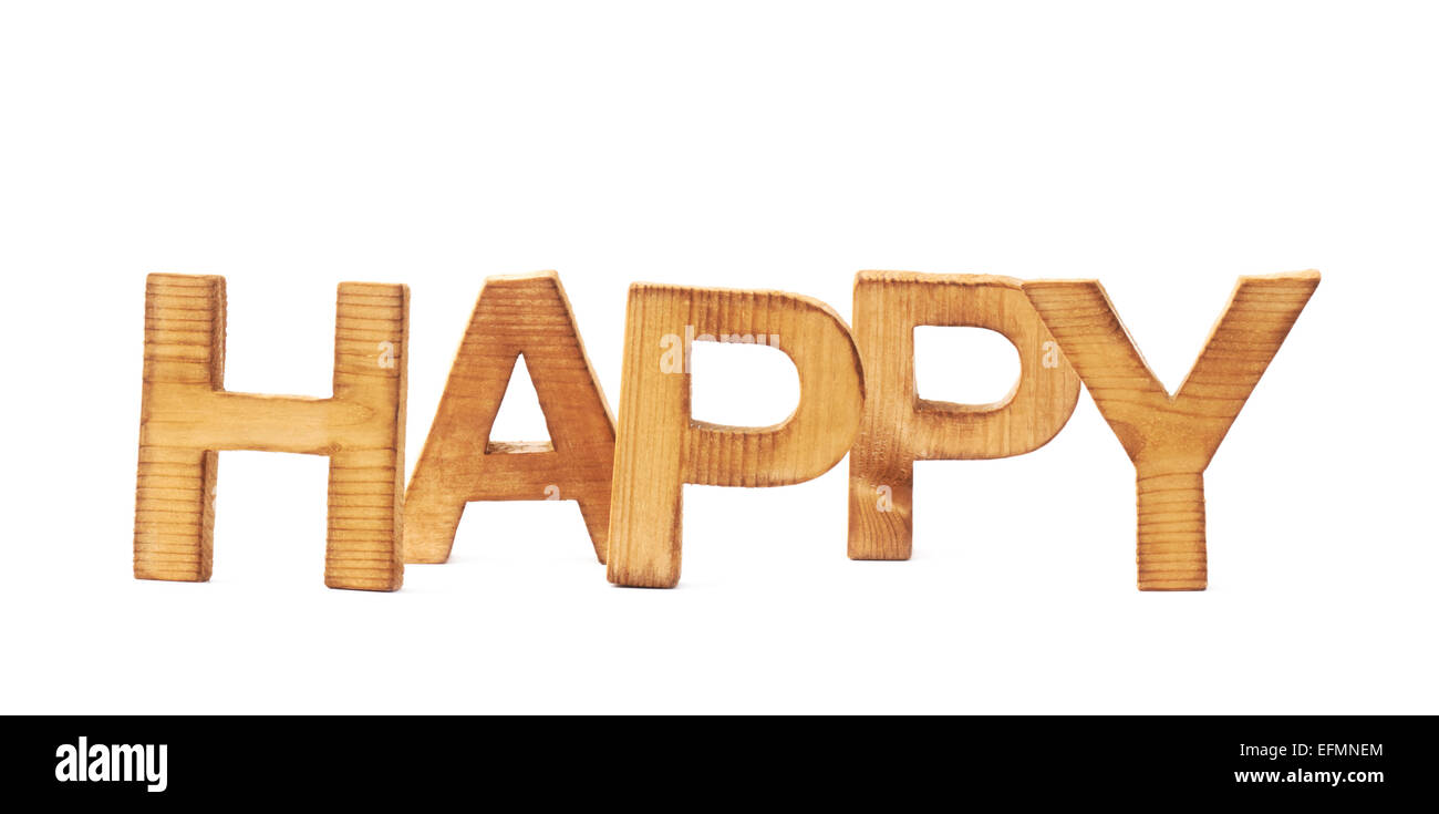 Word happy made of block letters stock photo 78517228 alamy word happy made of block letters thecheapjerseys Choice Image