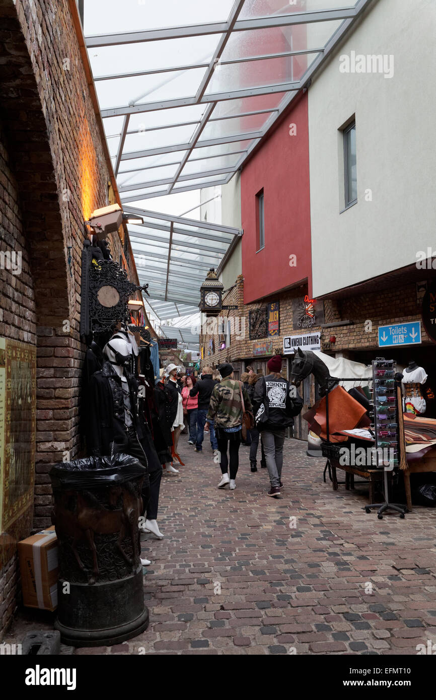 Covered area, Camden Stables Market, London, UK - Stock Image