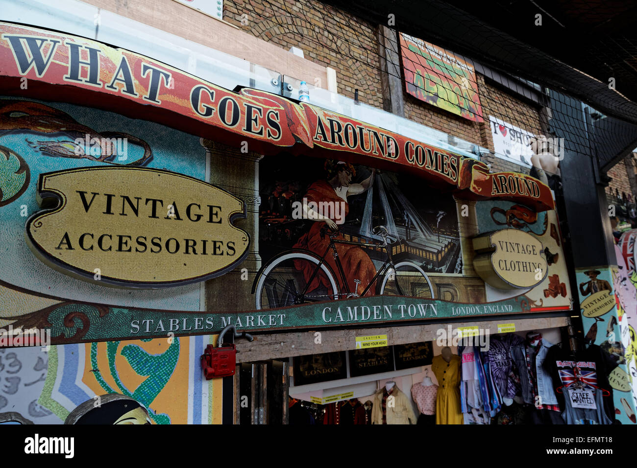 Shop frontage, Camden Stables Market, London, UK - Stock Image