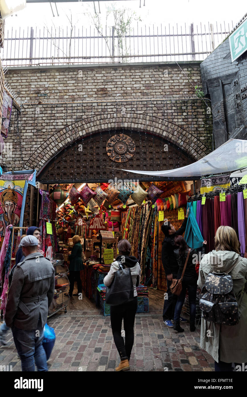 A view of the market at Camden Stables, London, England, UK - Stock Image