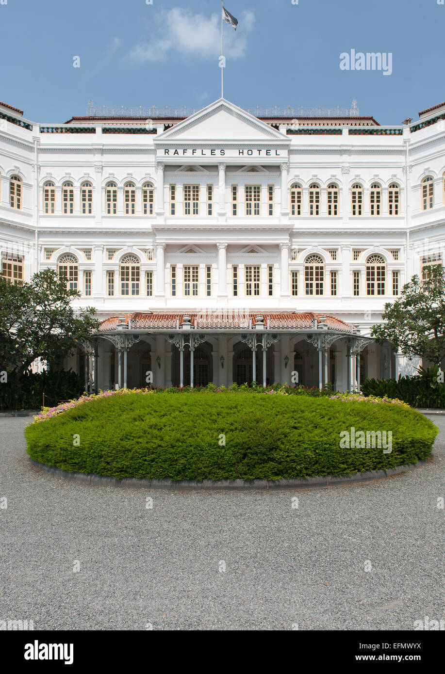 The Raffles Hotel in Singapore. - Stock Image